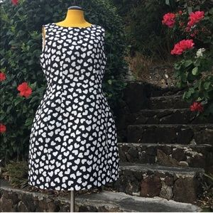 KATE SPADE Dancing Hearts Domino Dress w/ pockets